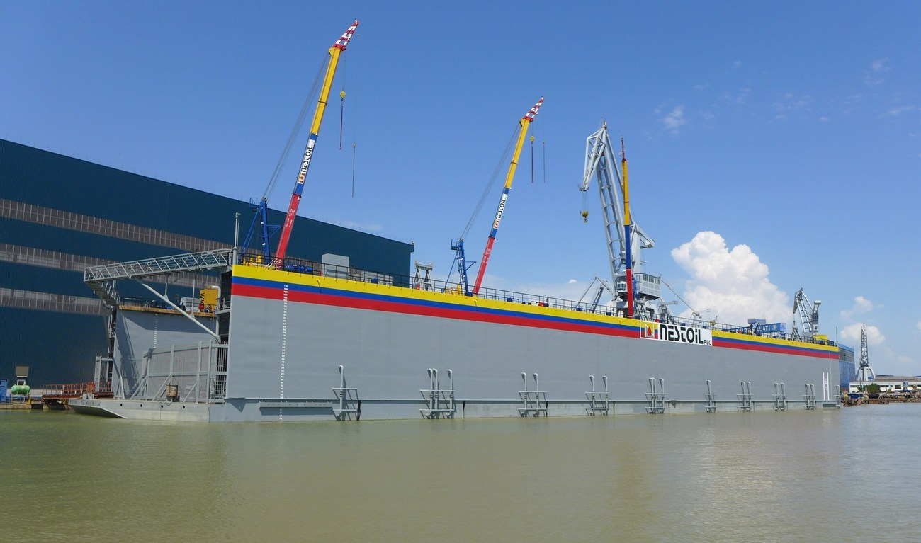 Modular Floating Drydock can dock it own pontoons and can be towed overseas  if required