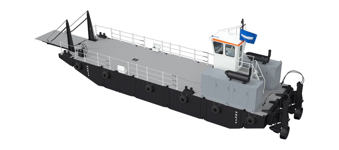 The modules of Damen Modular Multi Cat can be combined with other modules and equipment