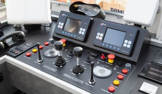 The wheelhouse is provided with the latest communication equipment.
