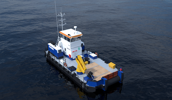 The Modular Multi Cat 1807 provides valuable dredge support and anchor handling capacity.