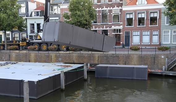 Damen Modular Barges can easily added where needed to the Damen Modular Concert Pontoon.