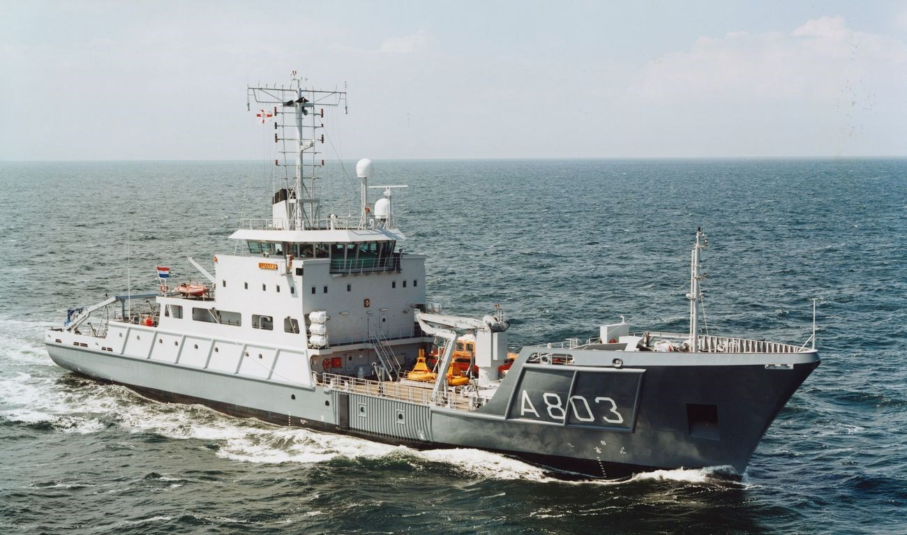 This vessel was designed to conduct hydrographic surveys in the North Sea and the area around the Netherlands Antilles.