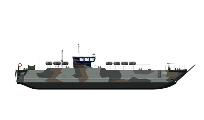 The Landing Craft are particularly useful when harbour infrastructure
