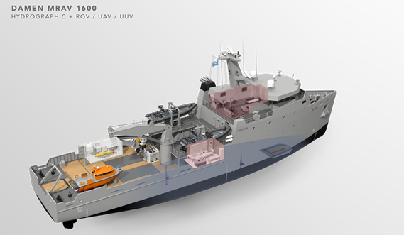Multi Role Auxiliary Vessel 1600 - Mission: Hydrographic & ROV/ UAV/ UUV