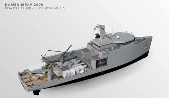 Multi Role Auxiliary Vessel 3600 - Mission: Disaster Relief/ Humanitarian Aid - Maindeck