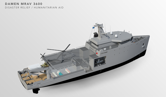 Multi Role Auxiliary Vessel 3600 - Mission: Disaster Relief/ Humanitarian Aid - Tweendeck