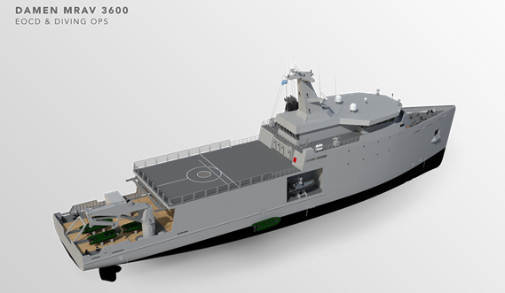 Multi Role Auxiliary Vessel 3600 - Mission: EOCD & Diving OPS