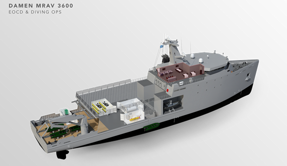 Multi Role Auxiliary Vessel 3600 - Mission: EOCD & Diving OPS - Maindeck