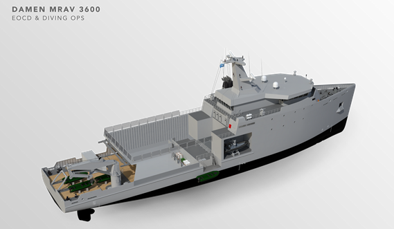 Multi Role Auxiliary Vessel 3600 - Mission: EOCD & Diving OPS - Tweendeck