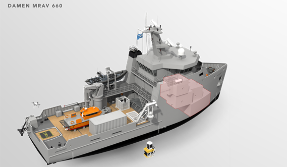 Multi Role Auxiliary Vessel 1600 - Accommodation