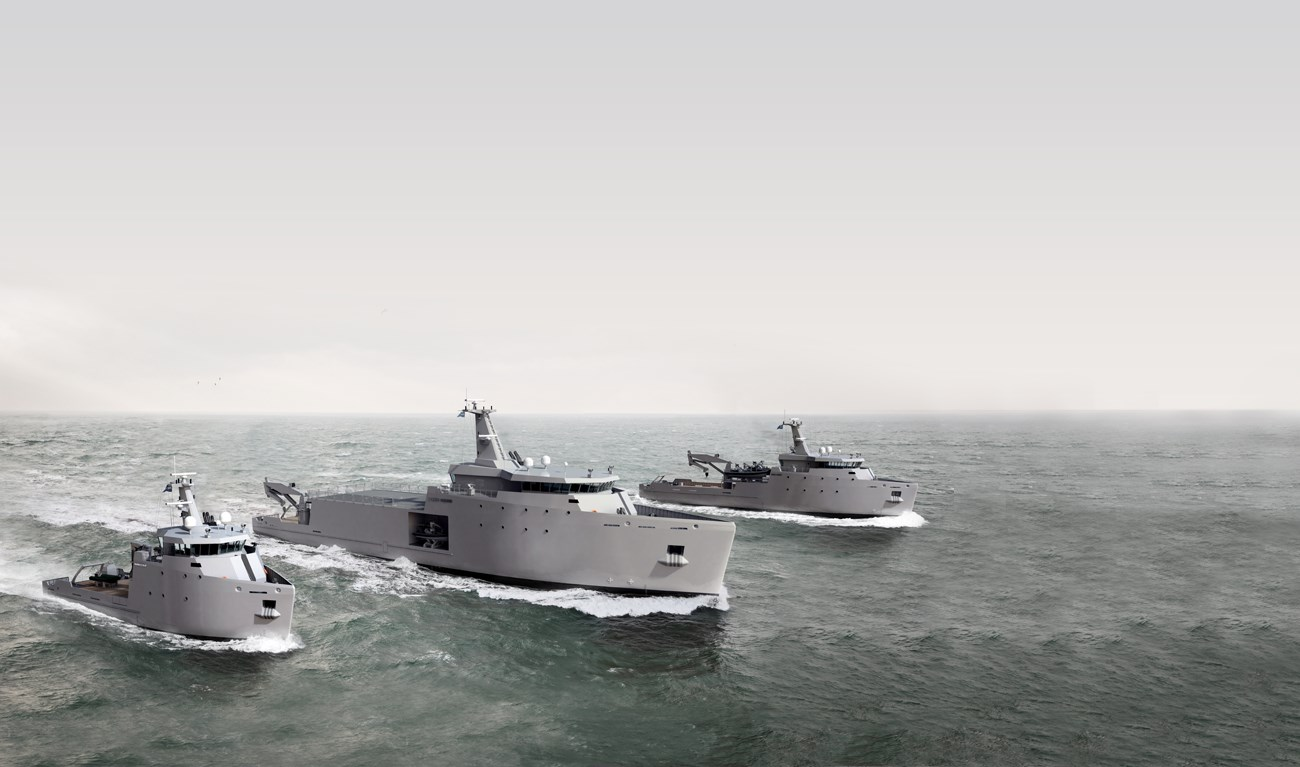 The Multi Role Auxiliary Vessel allows switching from traditional one-to-one replacement of purpose built ships to mission adaptable ships.