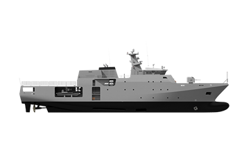 The Damen Offshore Patrol Vessel is specifically developed for a wide variety of tasks in regions where there is low-level violence.