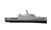 These vessels are optimised to fulfil duties including military security, safety and humanitarian tasks