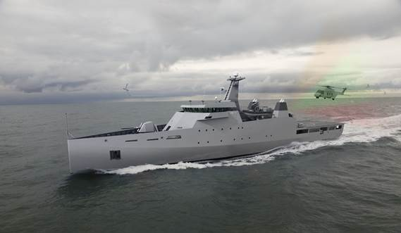 The Damen Offshore Patrol Vessel range has been specifically developed for navies and coastguards for a wide variety of tasks
