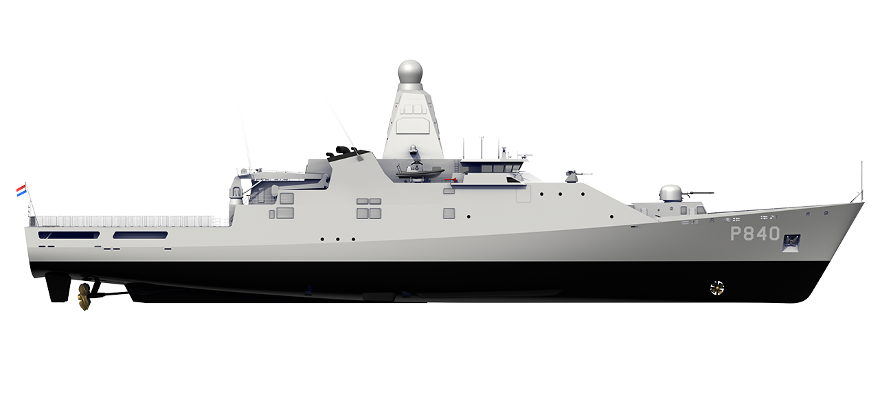 BUILT FOR THE ROYAL NETHERLANDS NAVY