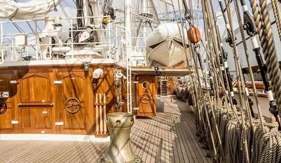 Sail Training Vessel 2630 'Shabab Oman II' main deck