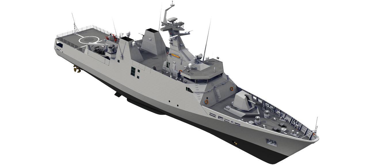Sigma Corvette 7513 for Naval patrol of the EEZ