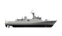 Sigma Corvette has 2D or 3D surveillance & target indication radar & IFF