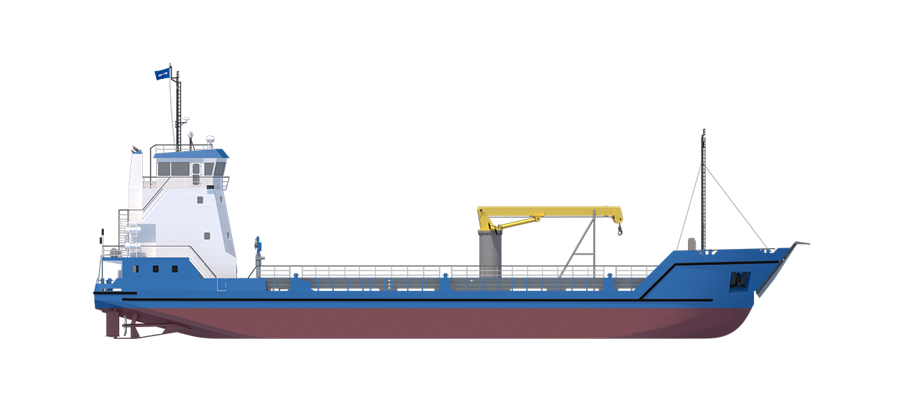 Damen Stan Lander 5612 has payload capacity and 350m2 of free deck with a large deck crane