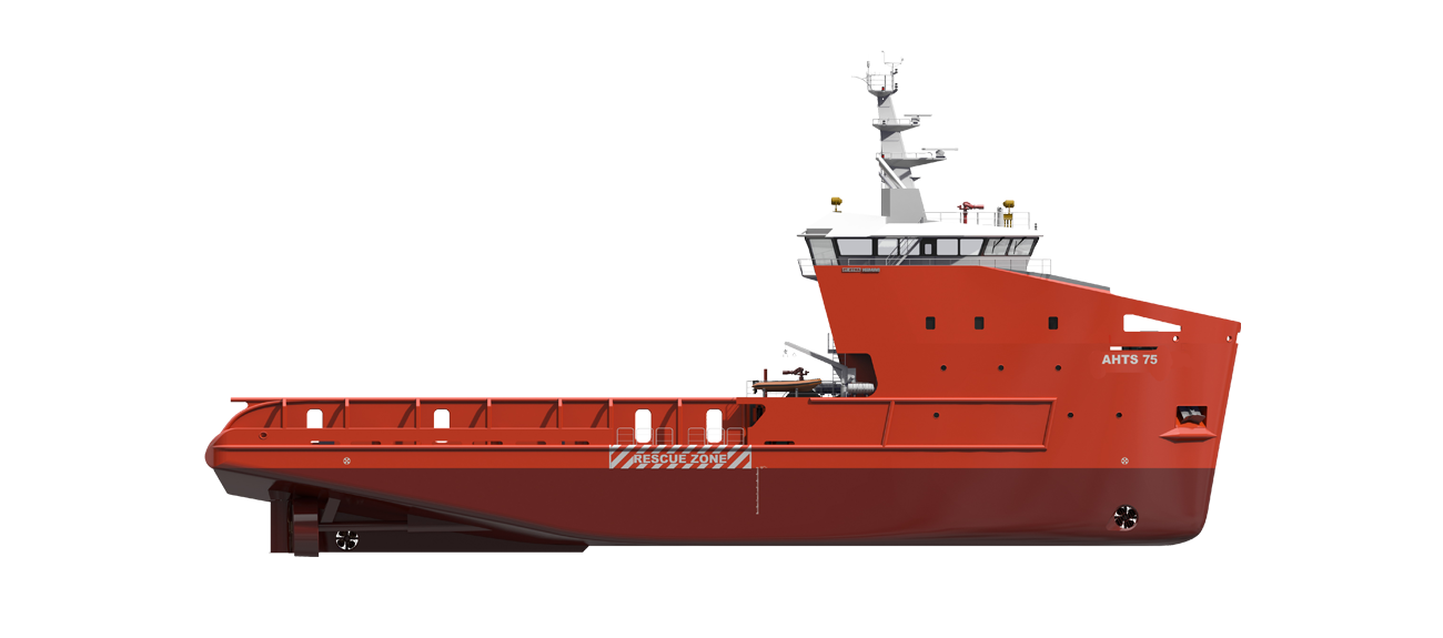 AHTS 75 IDEAL FOR ANCHOR HANDLING OPERATIONS