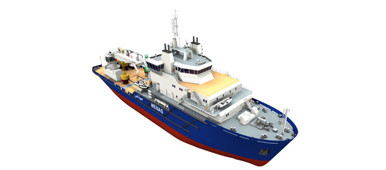 This versatile vessel is fitted with a dedicated buoy handling crane and ample accommodation, and delivers the highest levels of performance and operability.