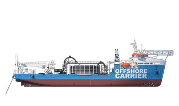 Our Infield Cable Laying vessel performs well in the tough conditions of the Offshore Wind industry.
