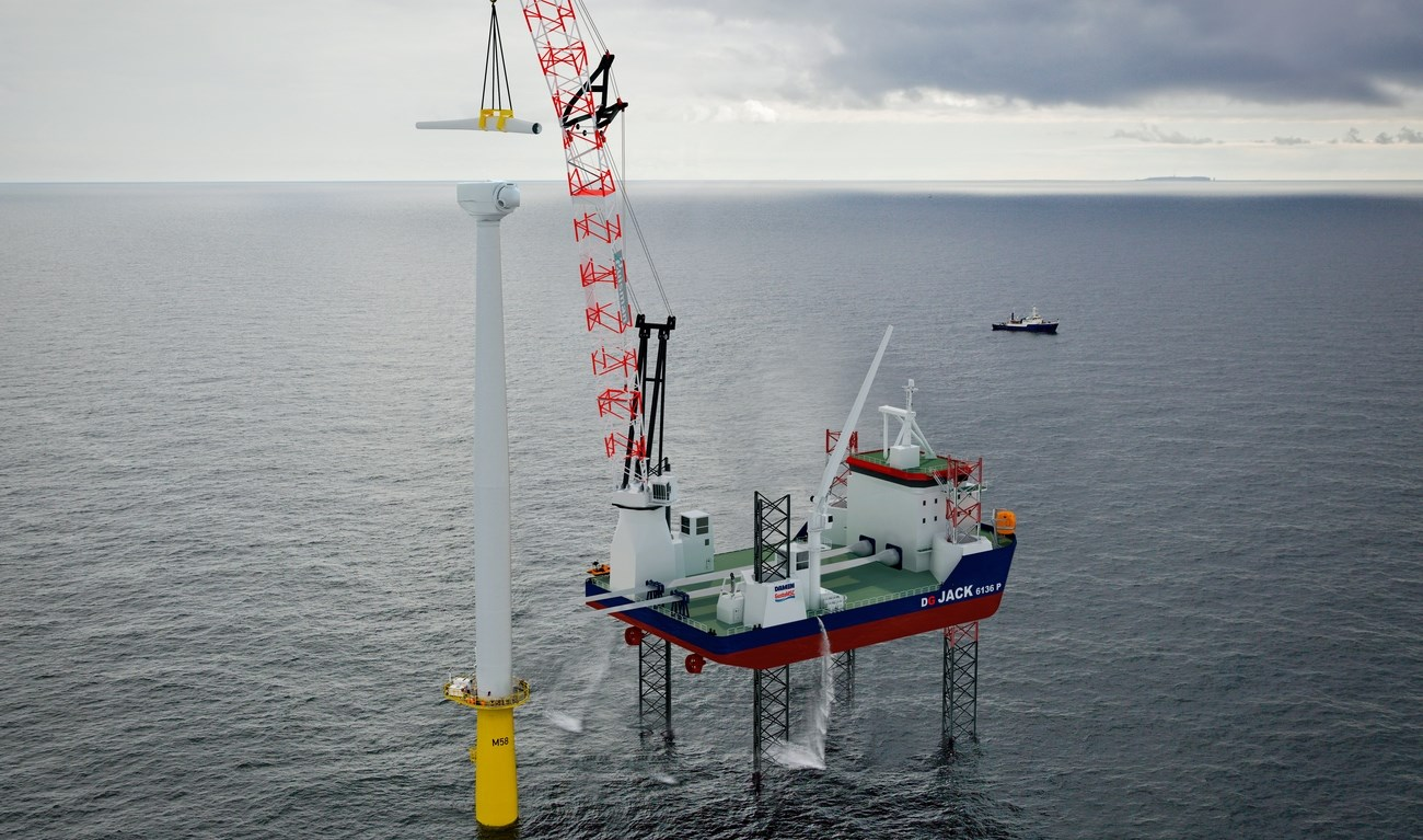 Damen Jack Up 6136P is a dedicated unit for a multiple range of tasks in the offshore wind/ oil & gas industry