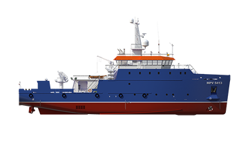Multi Purpose Vessel 5413 for offshore support service is designed to accommodate up to 34 persons