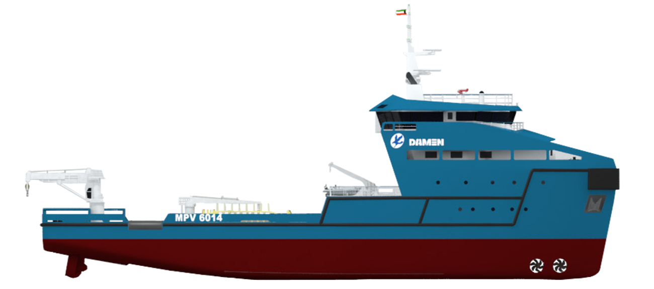 Multi Purpose Vessel 6014 side view
