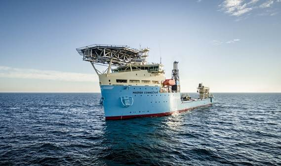 Damen delivers cable installation vessel 'Maersk Connector' to Maersk Supply Service