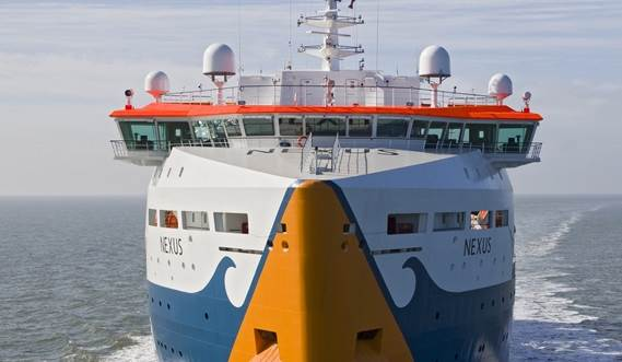 the 126-metre vessel is intended for the installation of electricity cables for offshore wind farms