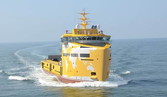 Logistic Support Vessel 8016 front view
