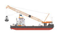The newest model HS8300 HD crane, anti-healing system, assisted propulsion, winches are installed amongst other systems to ensure operability in a wide range of maritime construction projects.