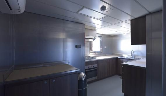 High marine quality galley with window