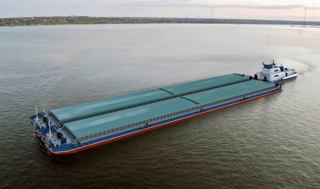 Inland Hopper Barges