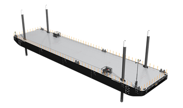 Stan Pontoon series' B11 and B13 have prepared integrated spud pole construction