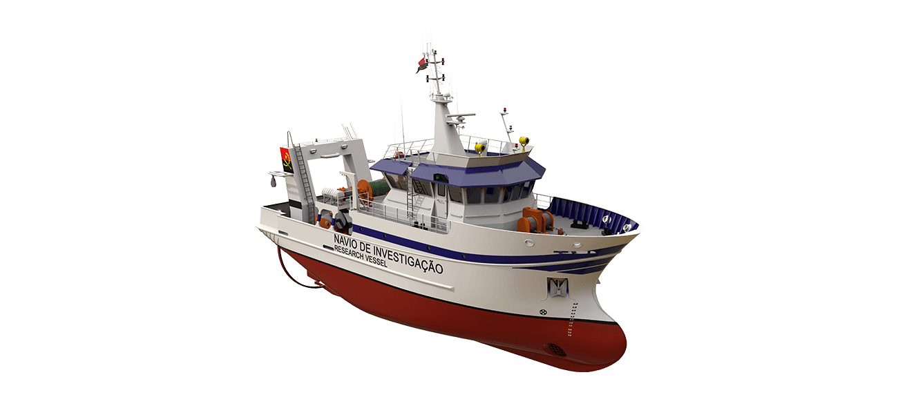 Damen Fishery Research Vessel 2808 perspective front SB