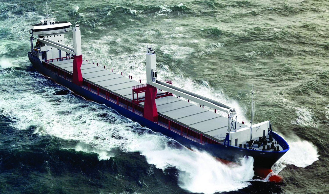 A FUEL-EFFICIENT SEAGOING CARGO VESSEL