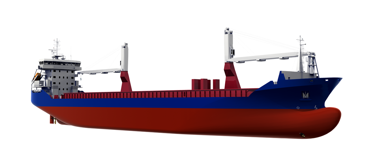 With a large beam and proper subdivision the vessel has high homogeneous loading capacity