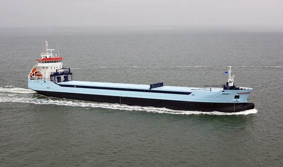 The MS. 'Marfaam' was handed over to her owner, Visser Shipping Company, in November 2011