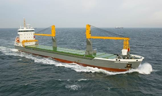 Under the charter name of 'Onego Navigator' the vessel was delivered in Shanghai after successful sea trials before proceeding on her maiden voyage to load in Tsingtao and Shanghai
