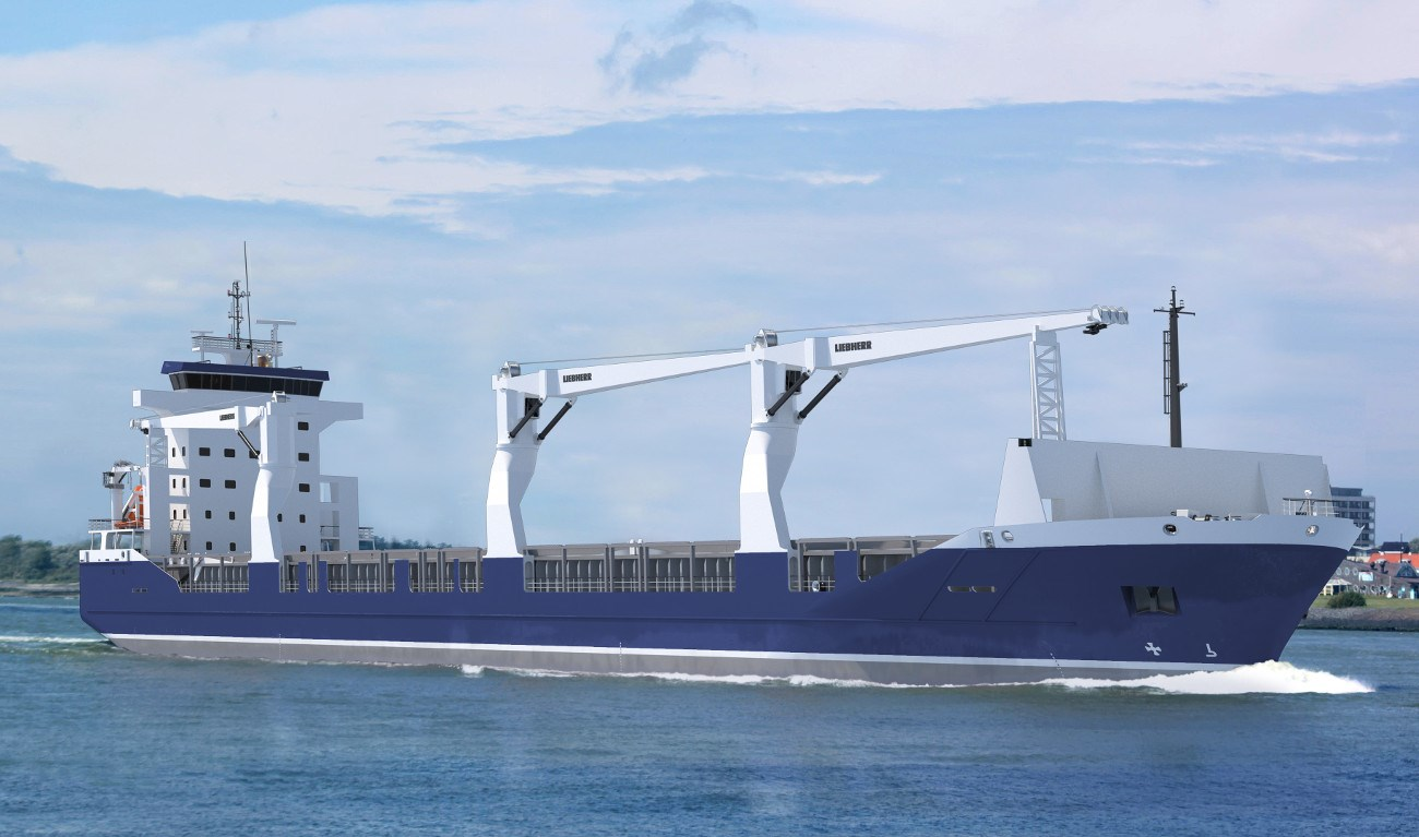 A fuel-efficient and easy to operate seagoing cargo vessel Damen Combi Freighter 19000