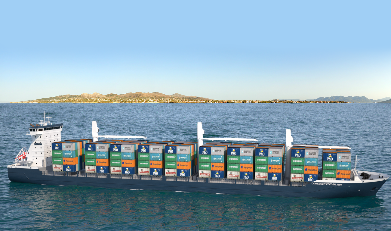 Damen Container feeder 2500 is designed for efficiency, economy of scale and the environment