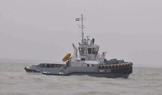 Damen ASD Tug 2810 Hybrid delivered to Royal Netherlands Navy.