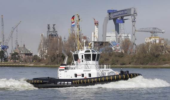 Leading German towage services provider URAG has taken delivery of an ASD Tug 2411