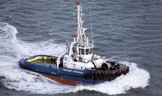 A Damen ASD 2810 Tug, 'Gennadiy Savelyev', was delivered to the Ukrainian port of Yuzhny on December 8, 2010.