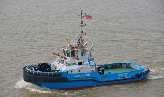 The second of four Damen ASD Tugs 2810 for ARC Towage (Spain) has left for Trinidad.