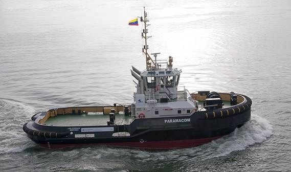 The Damen ASD Tug 2810 'Paramaconi' was delivered to INEA in Venezuela on 4 April 2012.