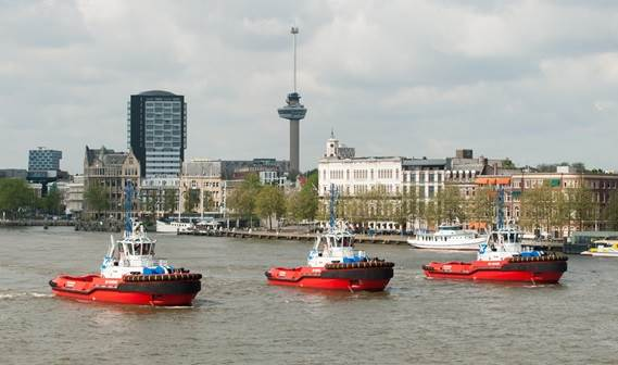 Three units of Damen's highly standardised ASD 2810 Tugs were recently handed over to the Dutch shipping company KOTUG International.