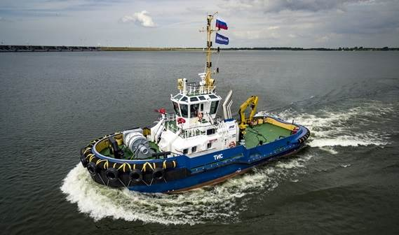 "RPK Nord, owner and operator of harbour oil transhipment complex based on floating oil terminal ""Umba"", has taken delivery of a new ASD Tug 2810 named TIS."